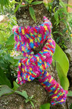Colorful wollen scarf, handmade, gift Royalty Free Stock Photo