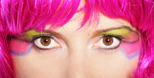 Colorful woman Royalty Free Stock Photos