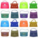 Colorful Woman bag on white background Stock Photo