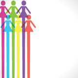Colorful woman icon background Stock Photos