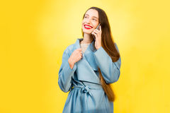 Colorful woman portrait Royalty Free Stock Photography