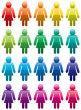 Colorful woman symbols Royalty Free Stock Image