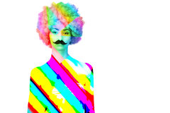 Colorful  women / female/ adult / girl with Royalty Free Stock Images