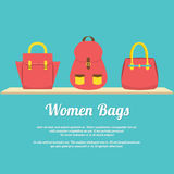 Colorful Women Handbags Display On Shelf Royalty Free Stock Image