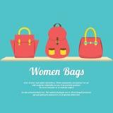 Colorful Women Handbags Display On Shelf Royalty Free Stock Image