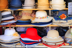 Colorful women hats Stock Image