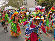 Colorful Women at the Parade Royalty Free Stock Photos