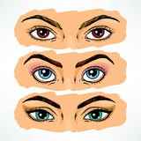 Colorful women's eyes Stock Photo