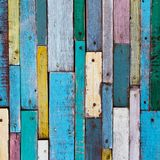 Colorful wood. Decoratiive and colorful wood wall Stock Photo