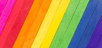 Colorful wood as abstract background. Colorful wood  arrange in row as abstract background Stock Image