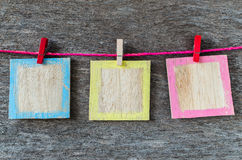 Colorful wood background frame Stock Photos