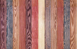 Colorful Wood Background planks. seamless mahogany and brown texture floor Stock Photography