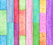 Colorful wood background Stock Images