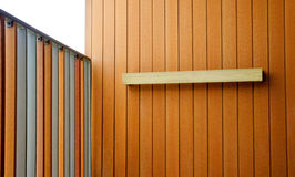 Colorful of wood balcony Royalty Free Stock Photo