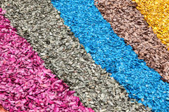 Colorful wood chips as background Royalty Free Stock Photo