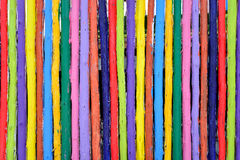 Colorful wood fence Royalty Free Stock Photos