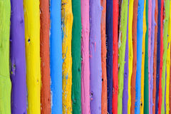 Colorful wood fence Royalty Free Stock Image