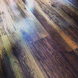 Colorful wood floor Royalty Free Stock Photos