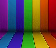 Colorful wood floor and wall Royalty Free Stock Photo