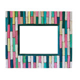 Colorful wood frame Royalty Free Stock Images