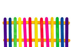 Colorful wood ice-cream stick. Stock Photography