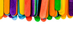 Colorful wood ice-cream stick Stock Photography