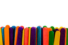 Colorful wood ice-cream stick Royalty Free Stock Photo