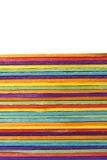 Colorful wood ice cream stick Royalty Free Stock Images