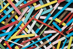 Colorful wood in messy pattern Stock Photos