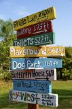 Colorful wood park signs Royalty Free Stock Image