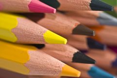 Colorful wood pencils Stock Images