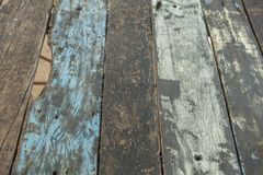 Colorful wood plank pallet texture. At thailand Stock Photography