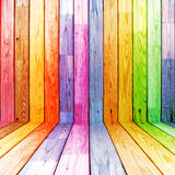 Colorful wood planks. In perspective Royalty Free Stock Image