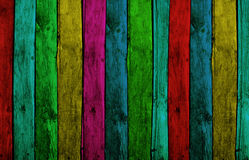 Colorful Wood Planks stock image