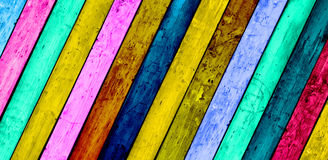 Colorful Wood Planks Background Royalty Free Stock Images
