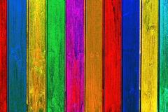 Colorful Wood Planks Background Royalty Free Stock Photography