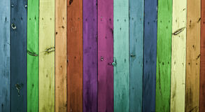 Colorful wood planks - background or abstract Royalty Free Stock Images