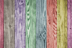 Colorful wood planks Stock Photos