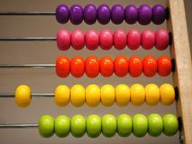 Colorful Wooden Abacus for Basic Mathematics Learning royalty free stock image