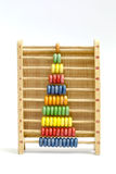 Colorful wooden abacus on withe background. Colorful wooden abacus toy on withe background stock image