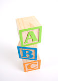 Colorful Wooden ABC Blocks stock image