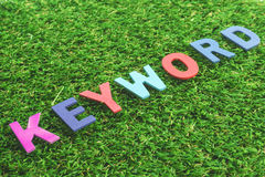 Colorful Wooden Alphabet Word keyword Stock Images