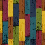 Colorful wooden background. Vector, EPS10 Royalty Free Stock Image