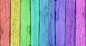 Colorful Wooden Background Stock Photo