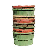 Colorful wooden baskets Stock Photography