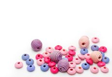 Colorful wooden beads Royalty Free Stock Photo