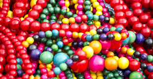 Colorful wooden beads Royalty Free Stock Image