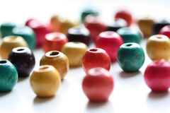 Colorful wooden beads Stock Image