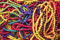 Colorful wooden beads Royalty Free Stock Photos