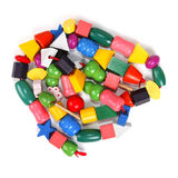 Colorful wooden beads toy Stock Image